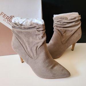 Fergalicious  Faux Suede Tan Boots Size 11